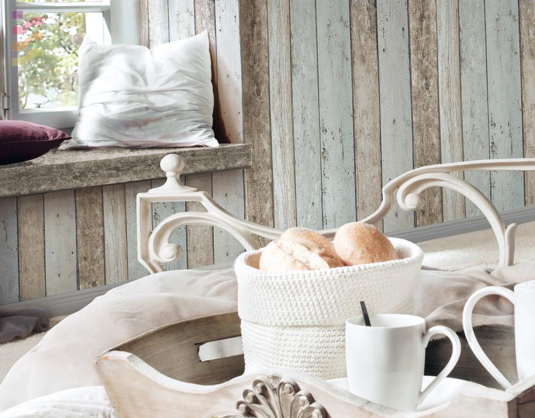 aranżacja do sypialni drewniane ściany