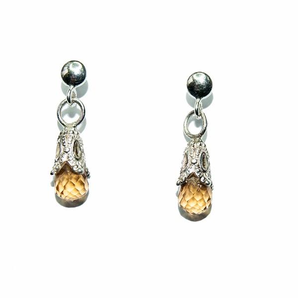 Handmade Citrine Earrings by Helen Walls, designer jewellery | Helen Walls
