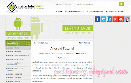 5 website hay để học Android
