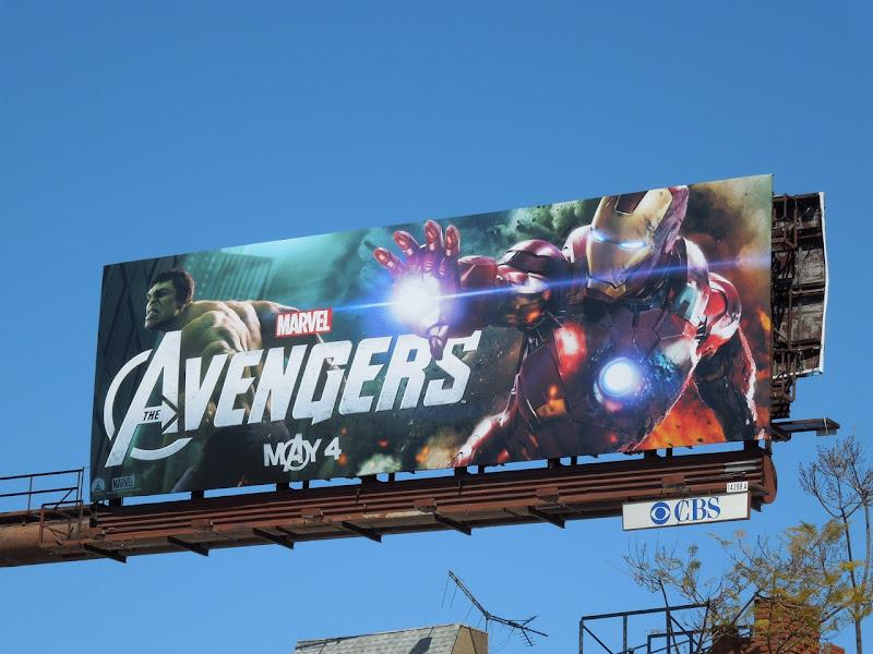 Marvel Avengers movie billboard