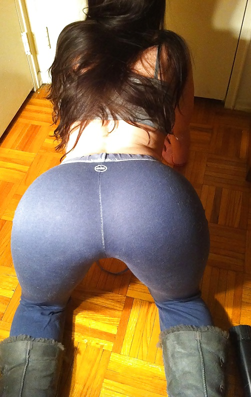 Are Sexy girl in yoga shorts especial. remarkable