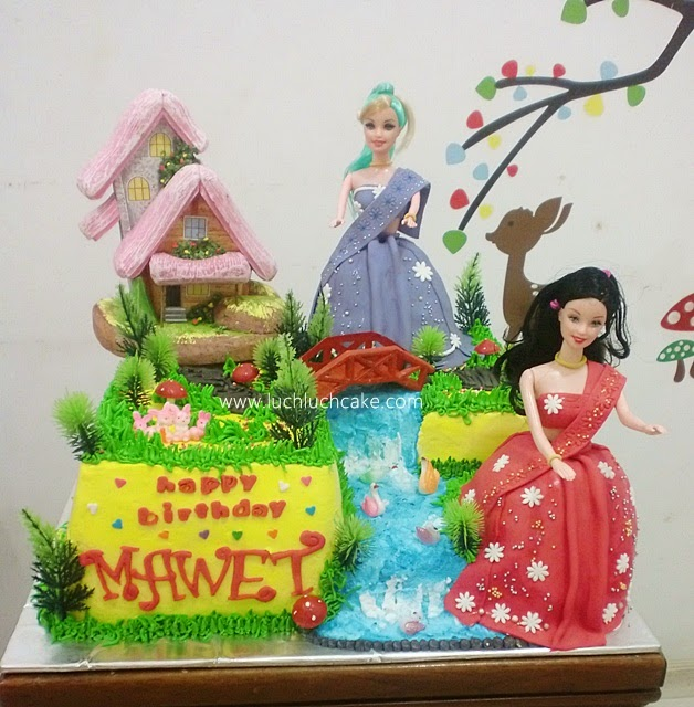 Kue Tart Ulang Tahun Barbie Princess Daerah Surabaya - Sidoarjo