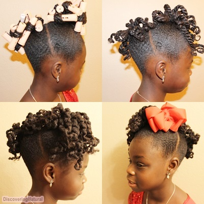 Perm Rod Set On Kids Dry Natural Hair