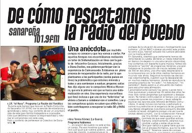 RADIO SANAREÑA,RESCATADA POR EL PODER POPULAR.