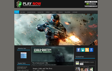 Play Now Blogger Template
