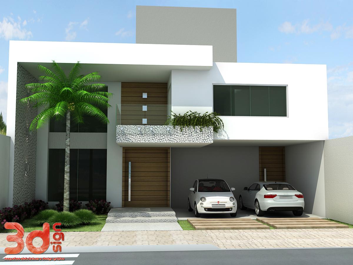 Fachada de casas com estilo colonial 300x239 fachadas de for Estilo colonial