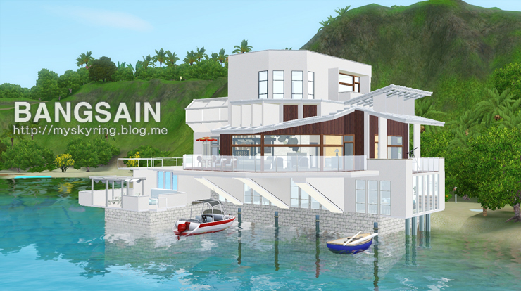 My sims 3 blog lonely beach house by bangsain for Beach house plans sims 3