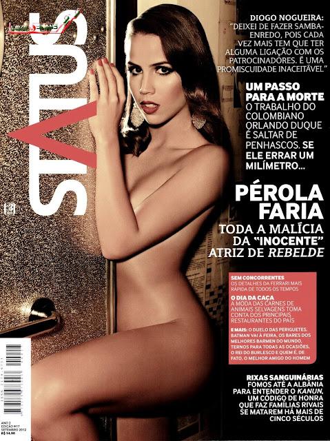 Confira as fotos da musa da novelas Rebelde, Pérola Faria, capa da revista Status de setembro de 2012!