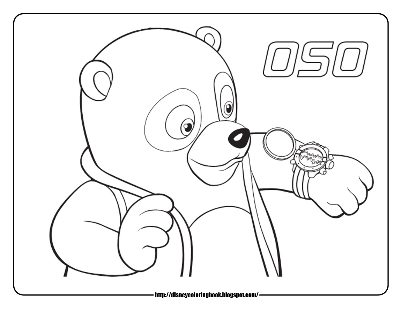 Special Agent Oso Dotty Coloring Pages