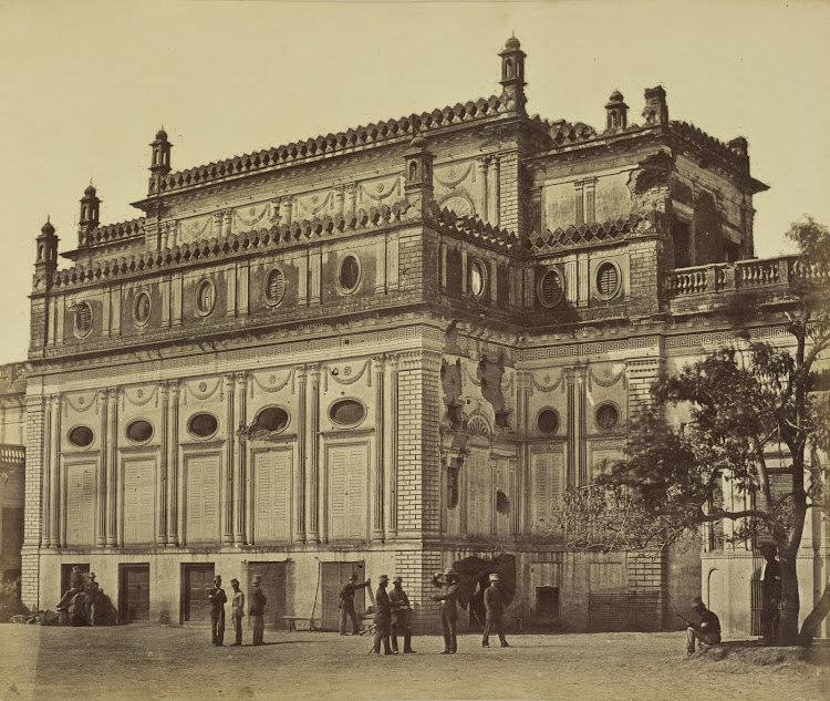 The Begum Kotie after Indian Mutiny - Lucknow 1858