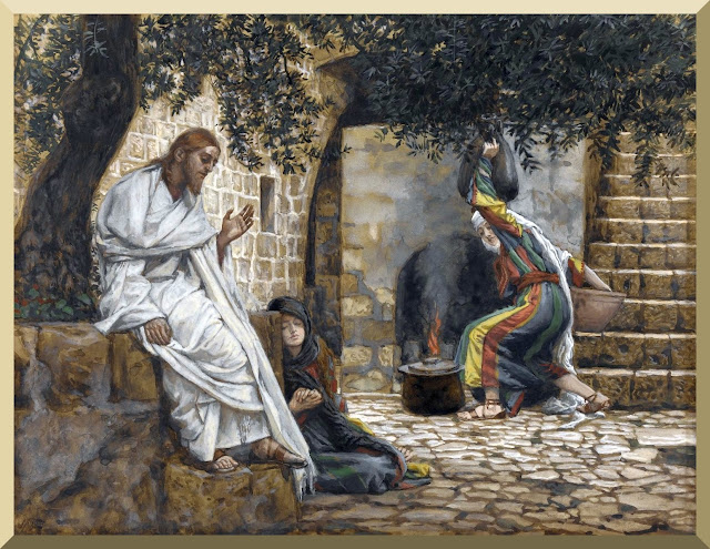 """Mary Magdalene At The Feet of Jesus"" -- by James Tissot"