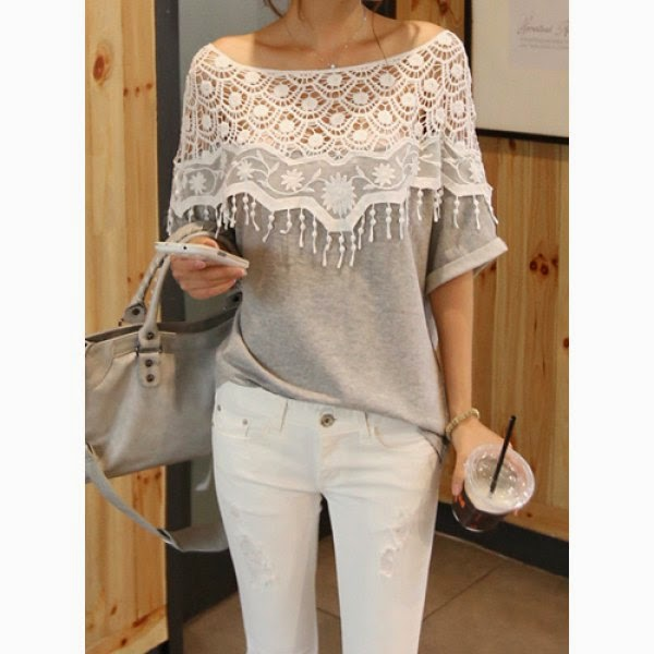 Lace dress Cutout Shirt for womens