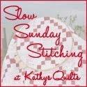 Slow Stitching Hand Sunday with Kathy