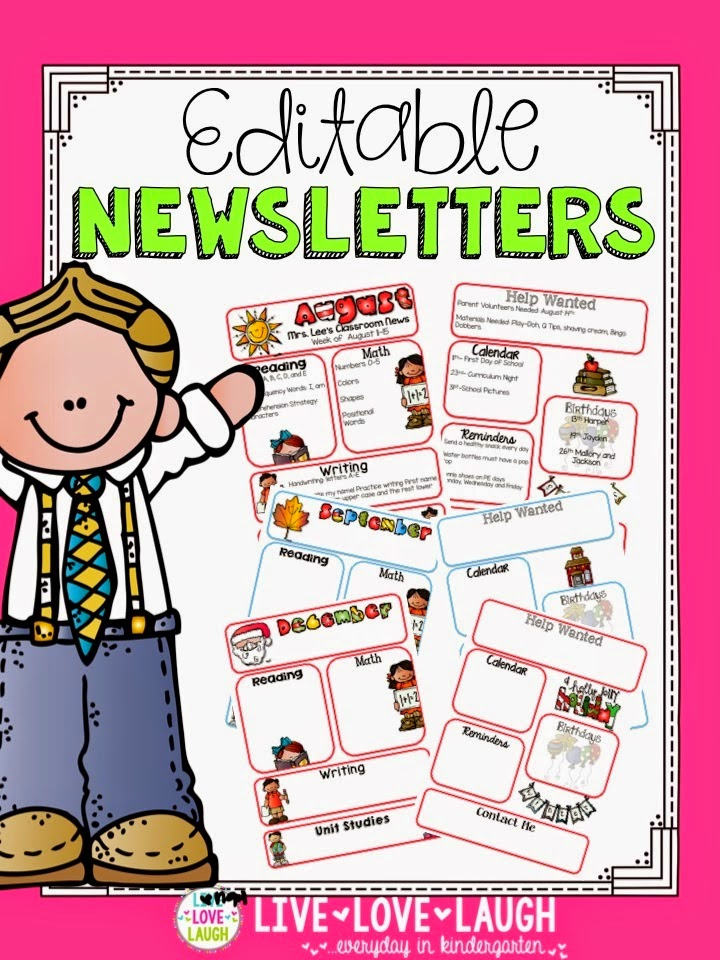 http://www.teacherspayteachers.com/Product/Monthly-Newsletters-Editable-with-and-without-Headers-1362632