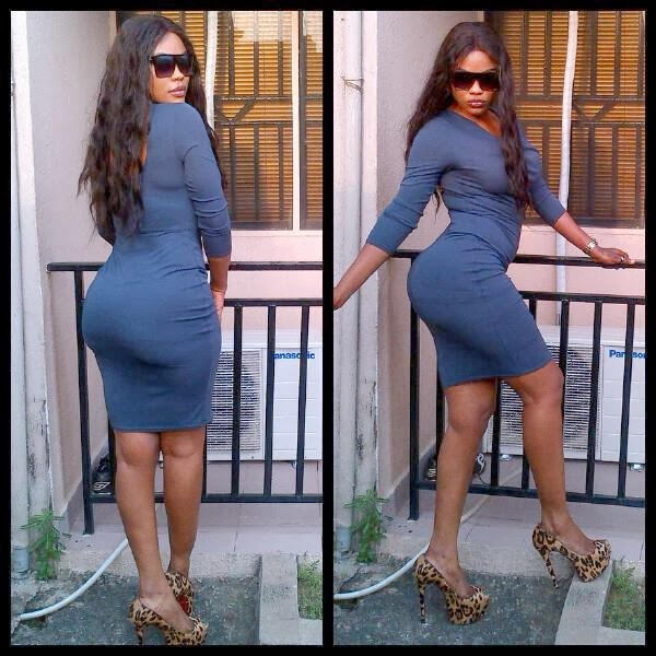 Chioma Okeke flaunts her buttocks