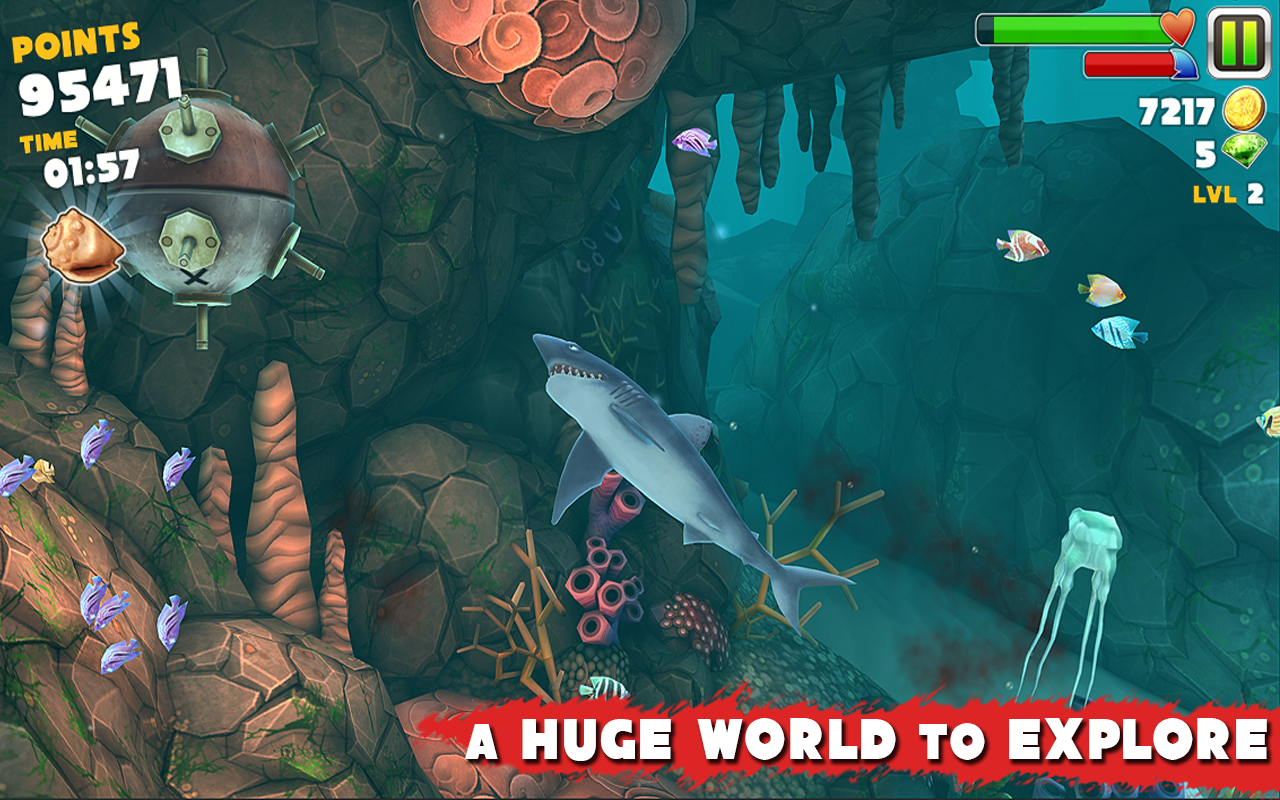 Hungry shark evolution 2 0 1 mod unlimited coins for android