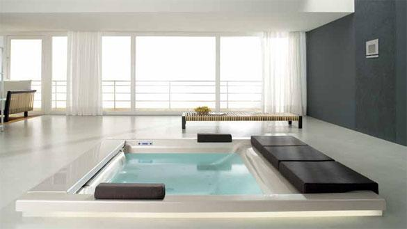 Italian designer bathrooms for Salle de bain avec jacuzzi
