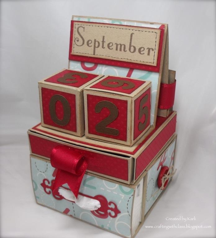 Perpetual Calendar Cube : Crafting with class teacher gifts calendar cube