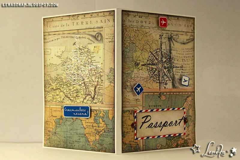 Скрапбукинг обложка на паспорт своими руками