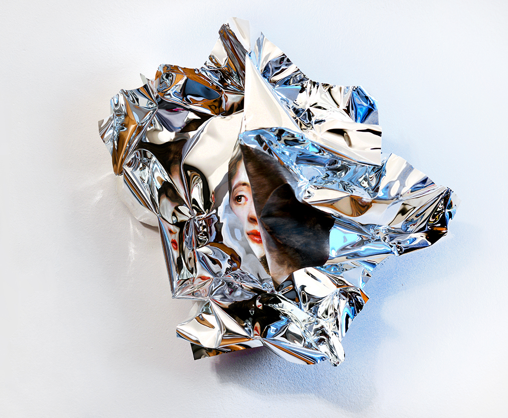 07-Martin-C-Herbst-Oil-Painting-on-Folded-Mirror-Polished-Aluminium-Foil-www-designstack-co