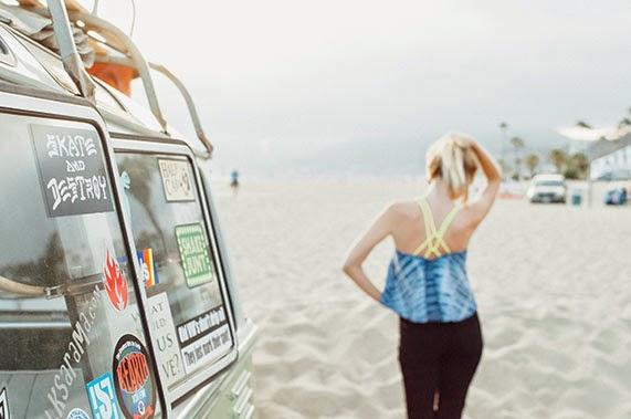 ShopGoldrush, tie dye, volkswagen, summer, california, sunset, shibori, neon, indigo, trishawna
