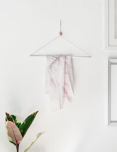 Kleiderbügel selbermachen - fester Bügel für Garderobe im Flur