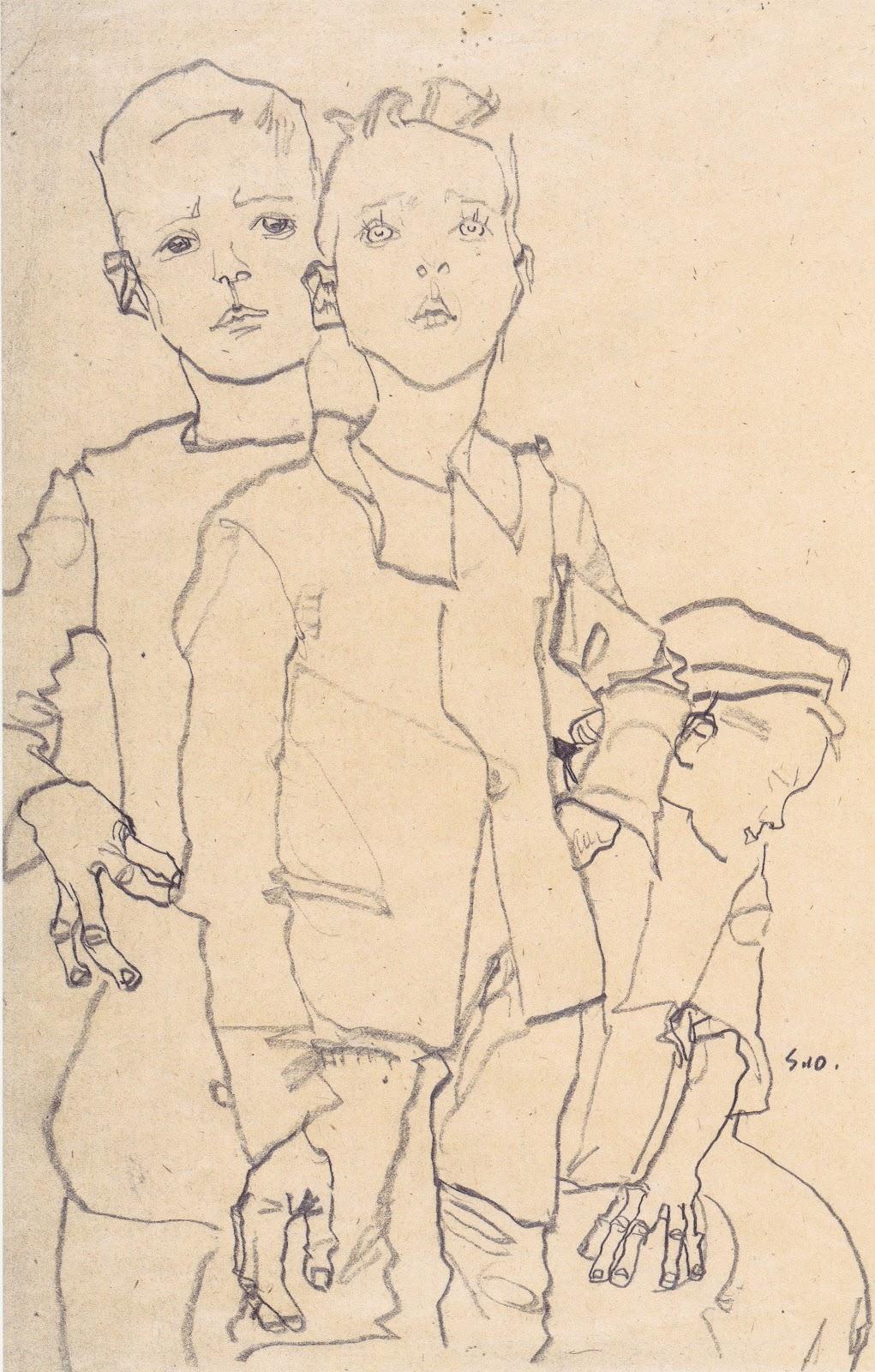 Contour Line Drawing Body : Egon schiele quotes quotesgram
