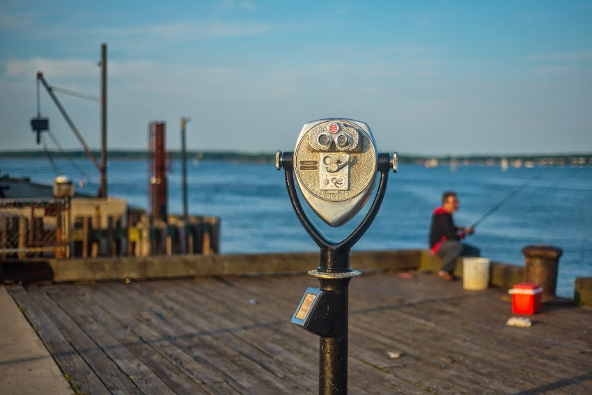 Maine State Pier Binoculars in Portland, Maine Summer June 2014 Photo by Corey Templeton