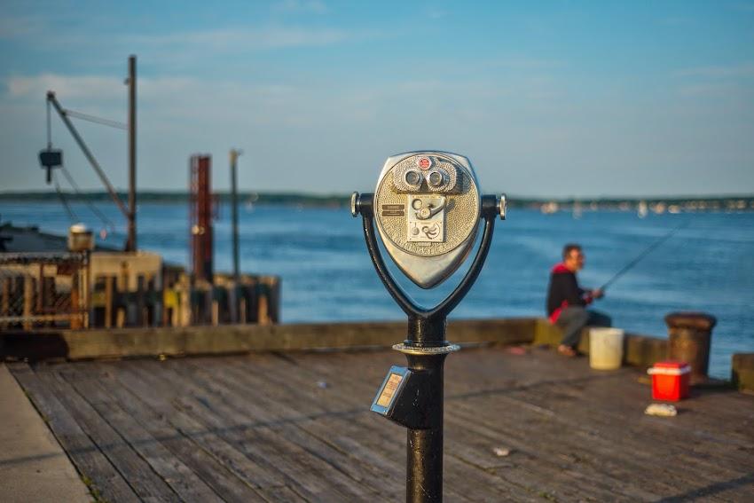 Maine State Pier Binoculars in Portland, Maine Summer June 2014 Photo by Corey Templeton