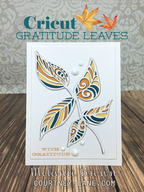 Cricut Gratitude Leaves card