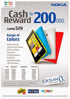 Cash Reward Nokia Lumia Hingga Rp 2 Jutaan
