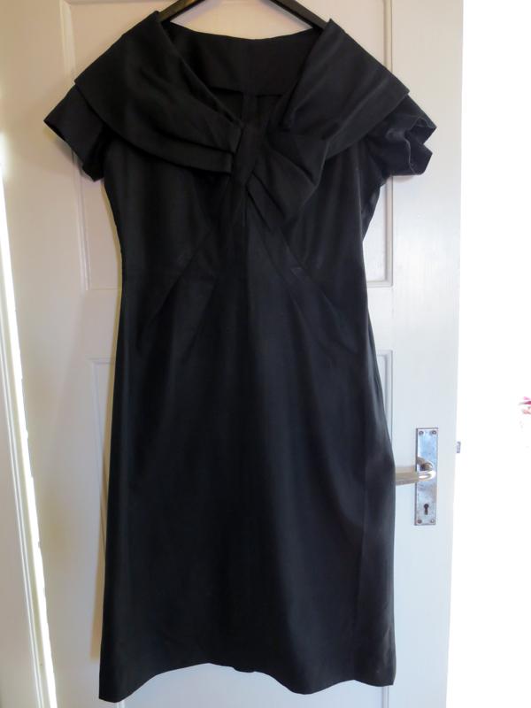 Sidenrips vintageklänning