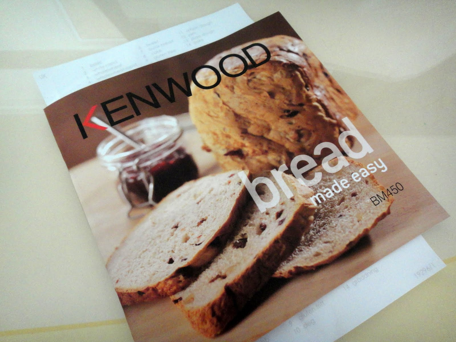 My food and travel blog the great kenwood breadmaking challenge the breadmaker comes with a recipe book with 20 bread dough and jam recipes from rustic bread to brioche to croissant dough to pizza dough to a variety of forumfinder Gallery