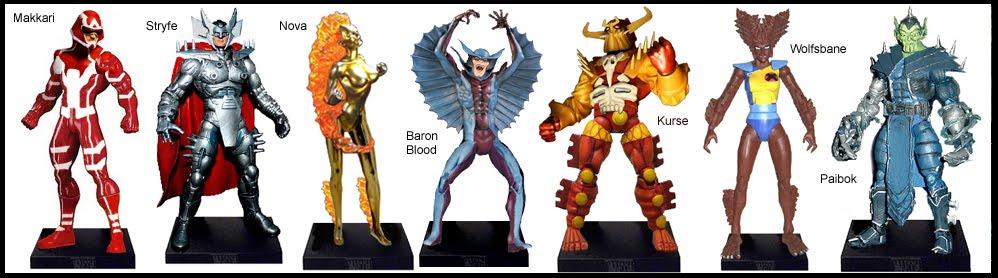 <b>Wave 4</b>: Makkari, Stryfe, Nova (Frankie Raye), Baron Blood, Kurse, Wolfsbane and Paibok
