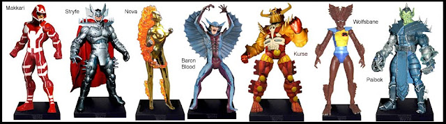 <b>Wave 4</b>: Makkari, Stryfe, Nova (Frankie Raye), Baron Blood, Kurse, Wolfsbane and Paibok