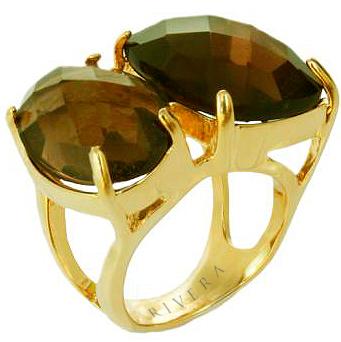 anel semi joia com pedras naturais