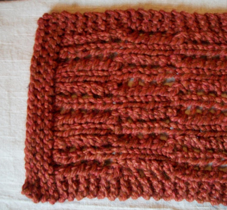 Knitting Architect: Great Chunky Scarf knitting pattern