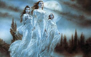 Fantasy white Vampire ghosts