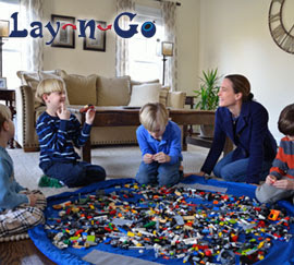 bodytop layngo Lay N Go Activity Mat  Perfect for those who need toys cleaned up easier!