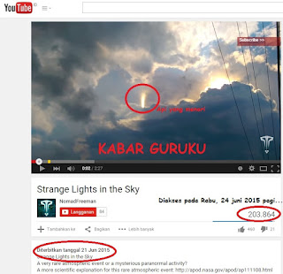 Video Cahaya Aneh Menari di Langit yang Berjudul Strange Lights in the Sky