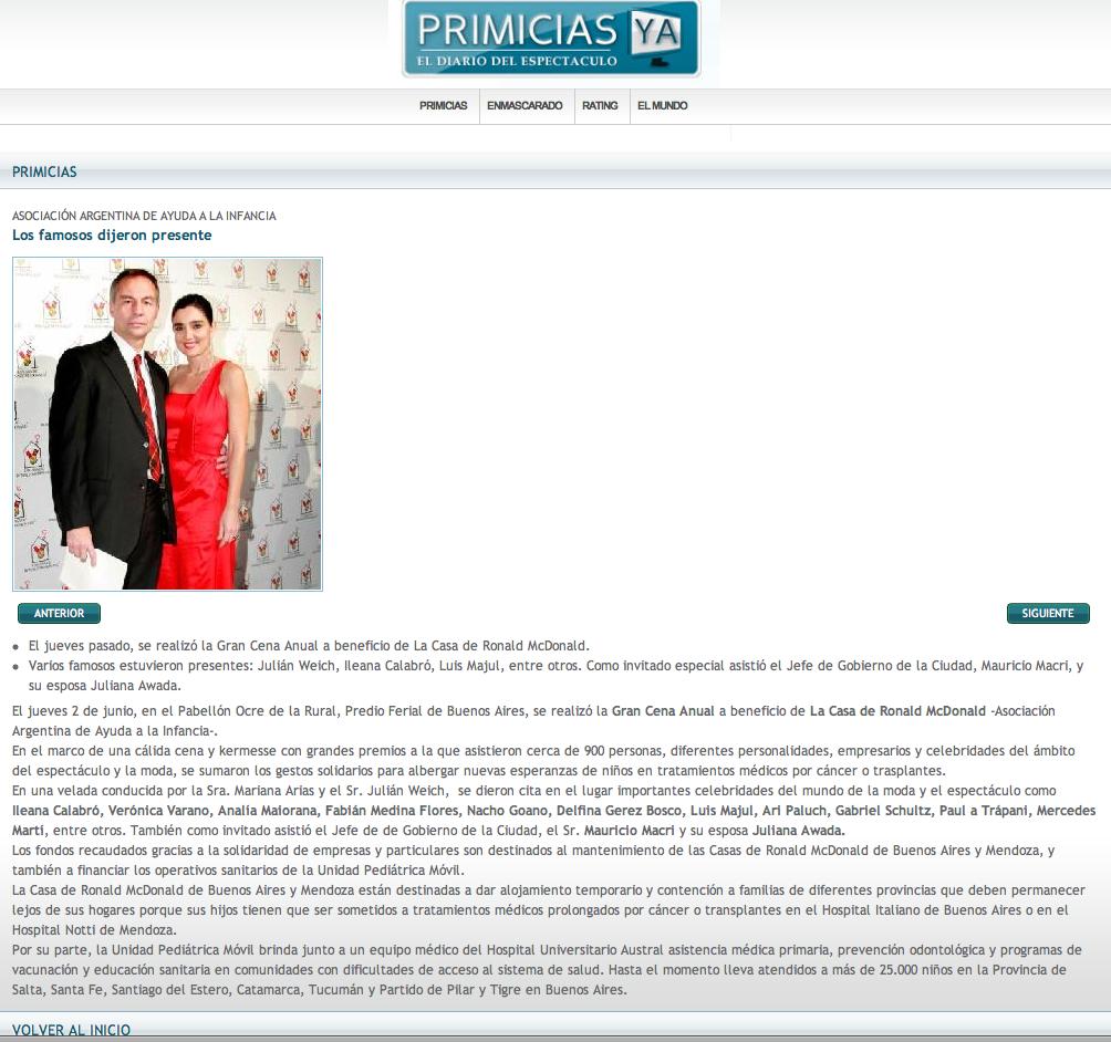 Veronica varano prensa nota primicias ya for Primicia ya espectaculos