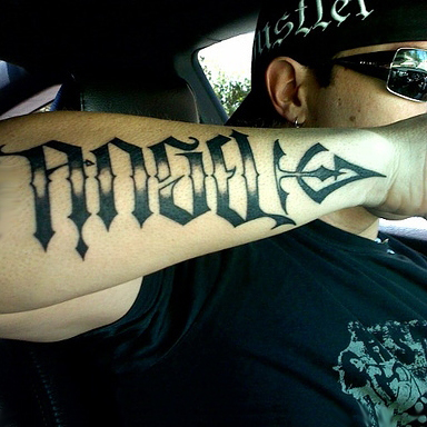 tattoo ambigram