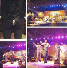 Banky W's pant tears on stage
