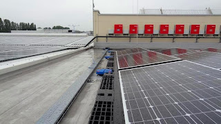 Solar Farm on Membrane Roof