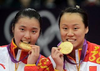 China Lengkapi Emas Lewat Ganda Putri dan Tunggal Putri