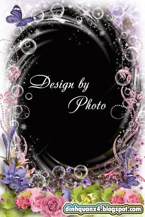 Flower photo frame - Hotter the fragrance of roses