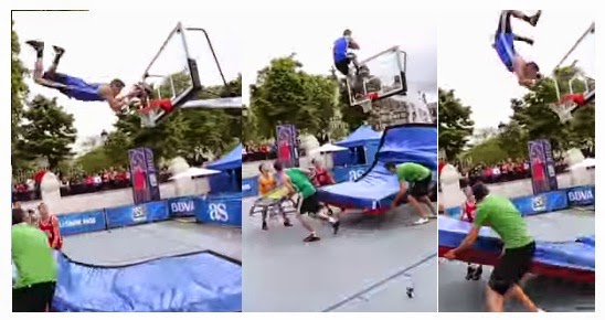 Backflip Off The Backboard Dunk! At NBA 3X ~ Pinoy99 News