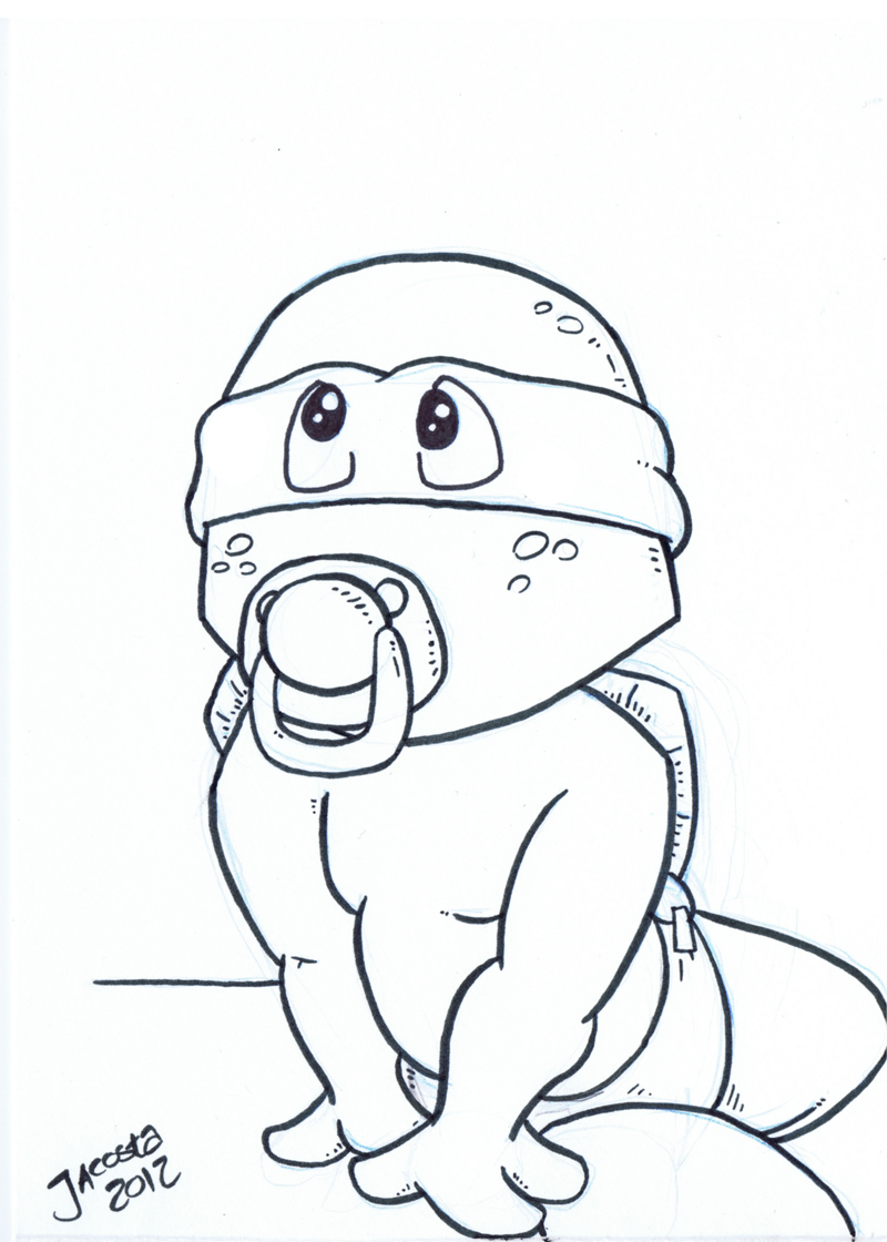 girl ninja turtles coloring pages - photo#12