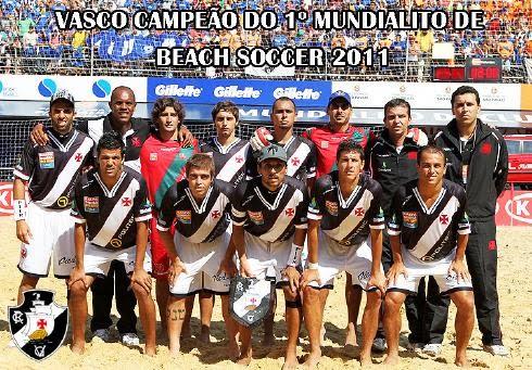 O VASCO É O PRIMEIRO CAMPEÃO MUNDIAL DE CLUBES DE BEACH SOCCER-FIFA!!!