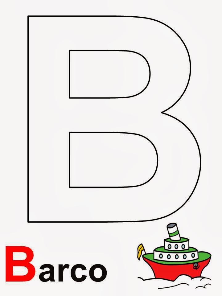 Alfabeto letra B Barco